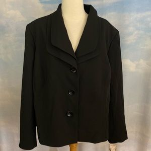 Lane Bryant Jones Studio Black Blazer NWT Sz 20W